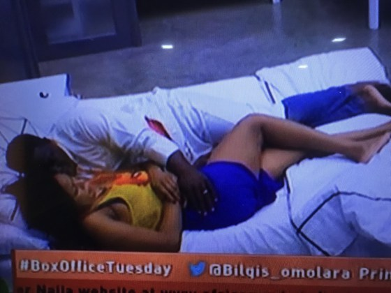 #BBNaija: Bitto Summoned To The Diary Room After He Starts Touching Princess On A Bed & She Didn't Like It (Photos) b 1 3