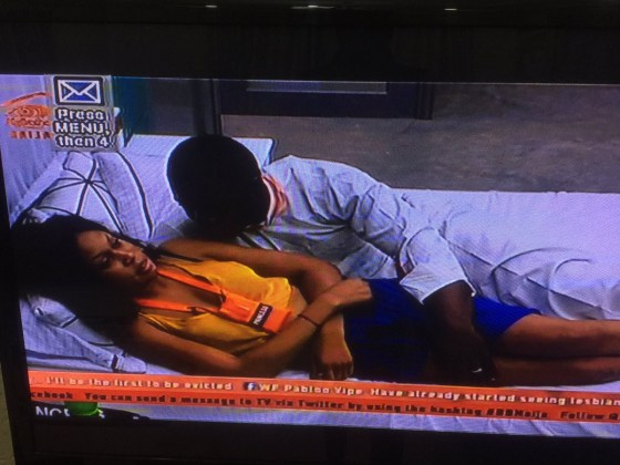 #BBNaija: Bitto Summoned To The Diary Room After He Starts Touching Princess On A Bed & She Didn't Like It (Photos) b 3 3