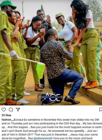 Man proposes to Corps member girlfriend two months after he slid into her DM (Photos) – Loudit News – gt