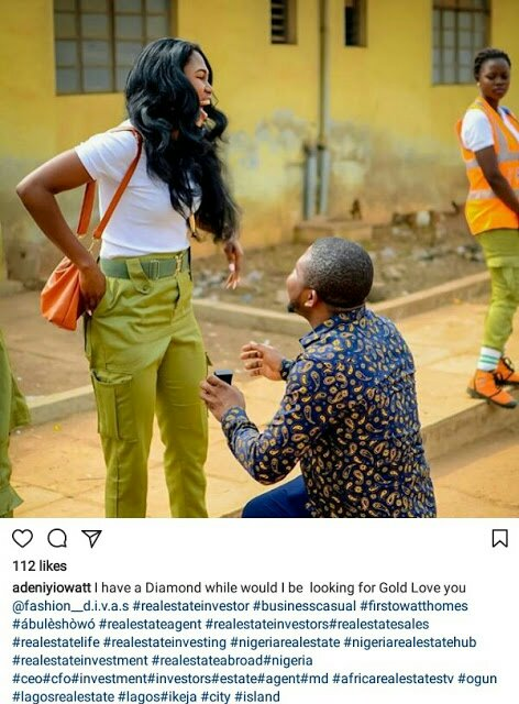 Man proposes to Corps member girlfriend two months after he slid into her DM (Photos) – Loudit News – img 20180128 124405 5082022021770