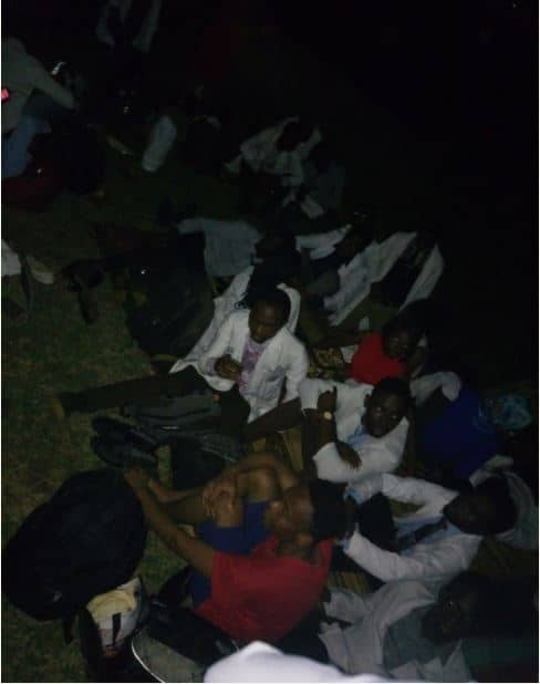 U.I Medical Students Sleep Outside The School After Being Evicted From Hostel (Photos) u i medical students sleep outside the school after being evicted from hostel photos 2
