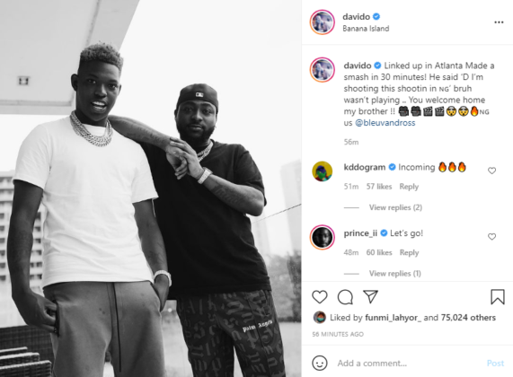 Yung Blue and Davido to Shoot Video in Nigeria   See Details