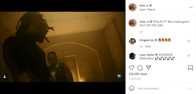 UK Rapper Mist Drops Teaser for New Song With Burna Boy 'Riddin'   Watch