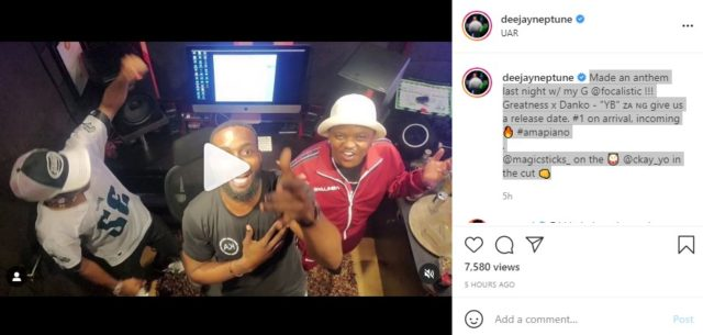 DJ Neptune Taps Focalistic and CKay for Amapiano Jam Dropping Soon