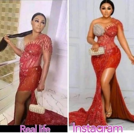 Mercy Aigbe in Real Life Vs on Instagram, Spot the Difference