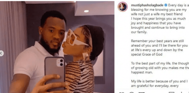 Nollywood Actor Mustapha Sholagbade Peppers Baby Mama, Celebrates Wife's Birthday in Style