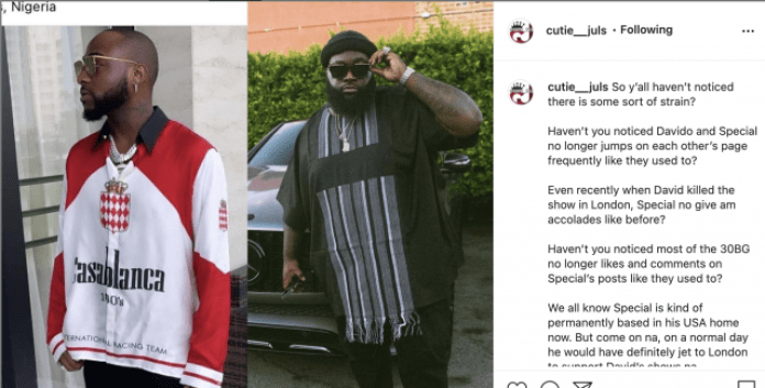 REVEALED: why Davido and His Hypeman, Special Spesh Are Currently in serious war