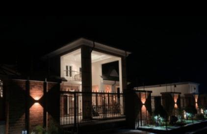 Actor Okon Lagos Shows Off His Newly Built House