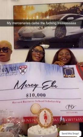 Mercy Eke 28th Birthday: Fans gift BBNaija star, $10k scholarship to Harvard Business