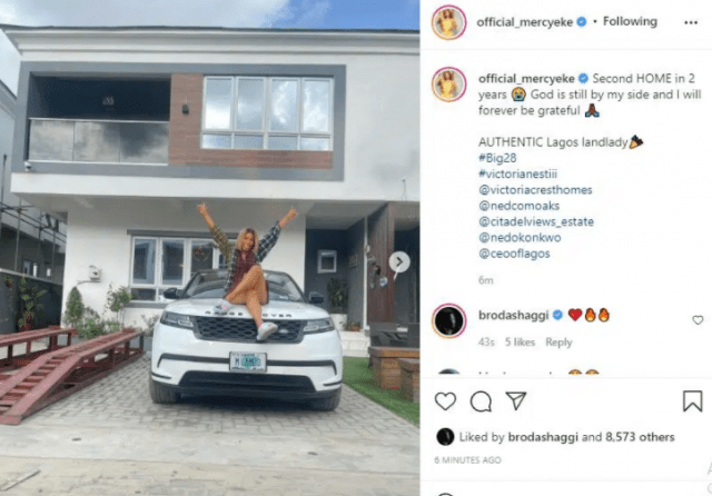 BBNaija: Mercy Eke acquires another house to celebrate her 28th birthday [photos]