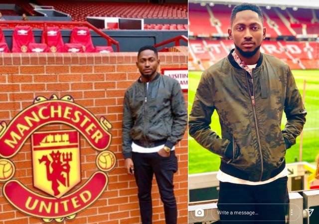 Miracle Visited Manchester United Stadium Days after Dumping Nina [Photos]